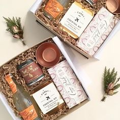Candle and chocolate hamper