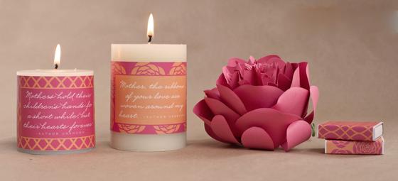 white pillar candle customised
