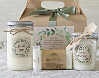 candle and spa gift set