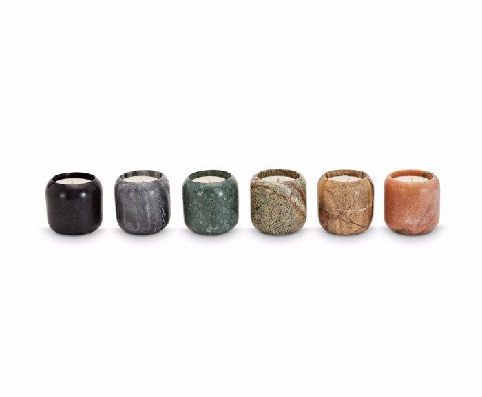 Candles in ceramic jars